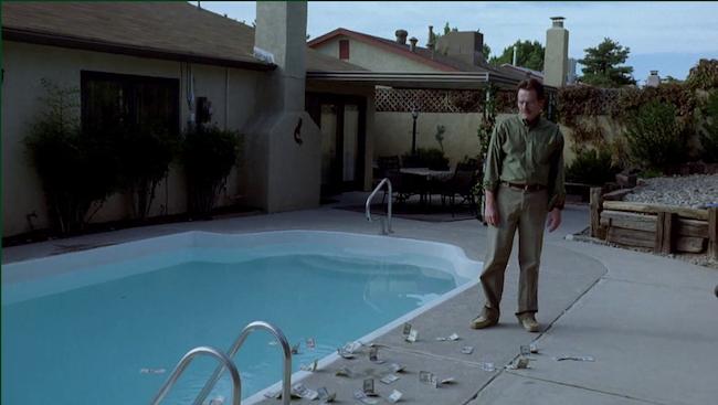 breaking bad money scattered pool