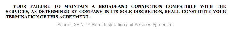 Broadband Termination Clause