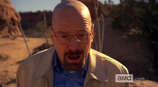 walter white shocked