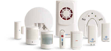 SimpliSafe Wireless home security system sensors