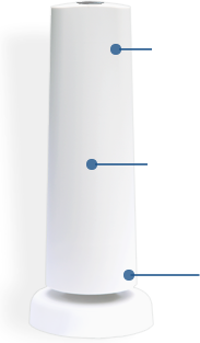 Your built in backup battery and celluar GSM connection keep your SimpliSafe wireless home security system connected in the event of a power outage