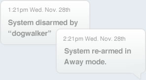 Check on your dog walker with SimpliSafe sms text alerts