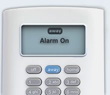 SimpliSafe wireless keypad set to away mode