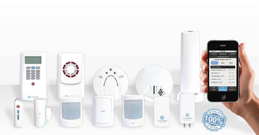 SimpliSafe sensors are 100% wireless