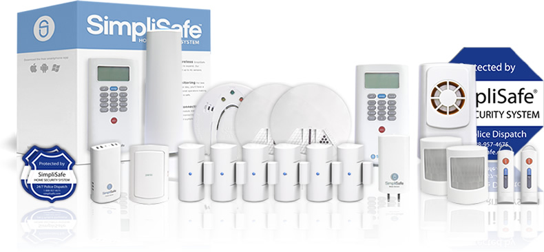 Complete security system package from SimpliSafe