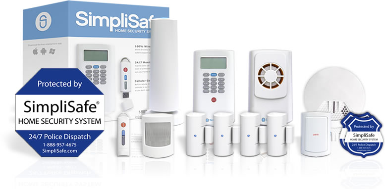 Standard security system package from SimpliSafe