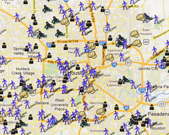 Crime Rate Houston Map