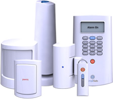 your custom home security system is expandable with wireless security sensors