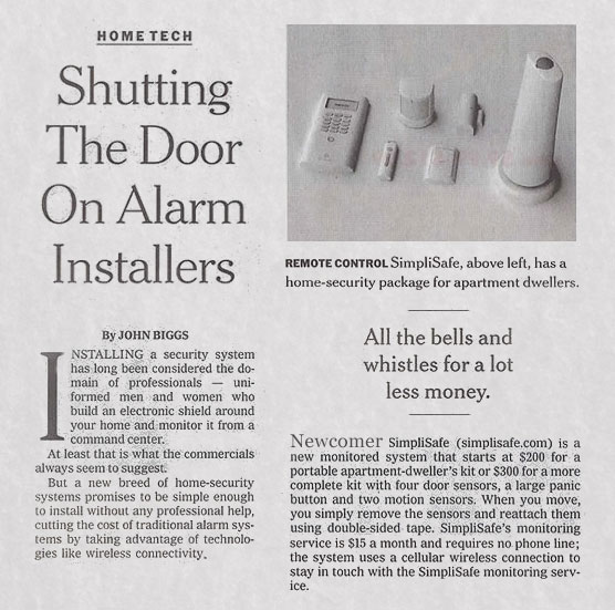 Wireless Home Security Systems Simplisafe