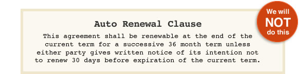 Sneaky auto-renewal clause
