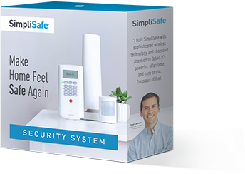SimpliSafe burglar alarm box and keychain