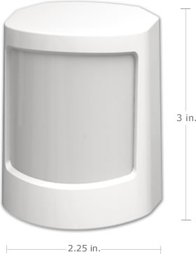 SimpliSafe motion sensors can detect motion up to 30ft