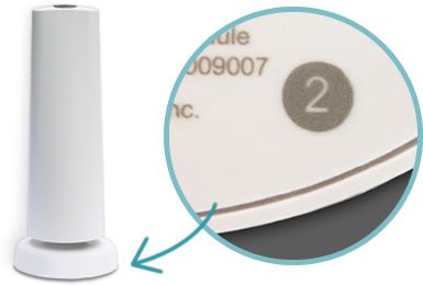 Look for the 2 on the bottom of your SimpliSafe wireless security system base station