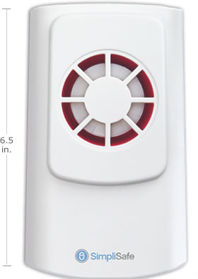 SimpliSafe 105dB sirens will alert your neighbors and scare away burglars
