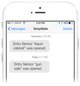 SimpliSafe Secret Alerts