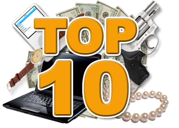 Top 10 Commonly Stolen Items